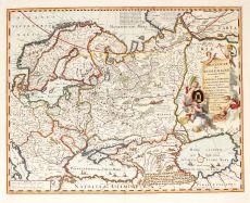 Map of Russia by Visscher II, Nicolaes