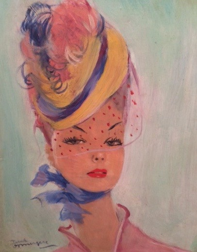 Portrait of Nané by Jean-Gabriel Domergue