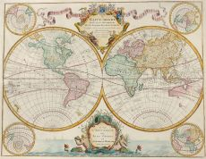 World map  by  Guillaume De L'Isle (Covens & Mortier)