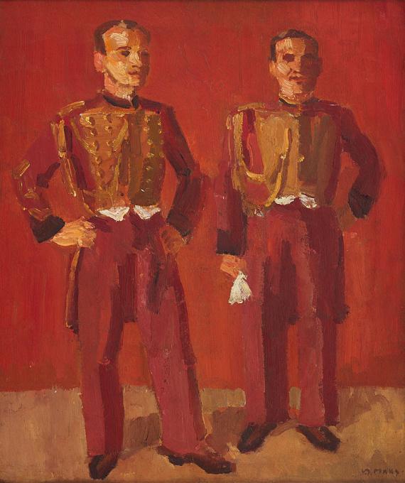 Twee circusartiesten by Kees Maks