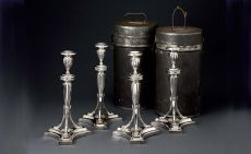 A set of four candlesticks