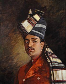Portrait of a Punjabi in British India by Hubert Vos