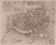 Leeuwarden  by  Pieter Bast after Johan Sems