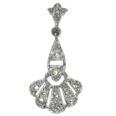 Platinum Art Deco diamond pendant by Unknown Artist