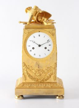 A French Empire ormolu mantel clock 'War and Peace', circa 1800. by Unknown Artist