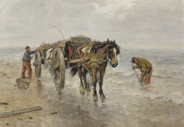 Fishing for Shells by Johan Frederik Cornelis Scherrewitz