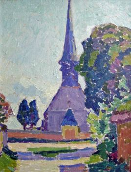 Eglise en Normandie/ Church in Normandy by Gaston Thiesson