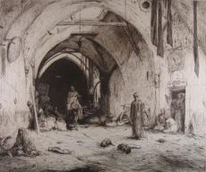 Bazar in Damascus by Marius Bauer