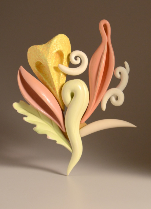 Brooch 'Aphrodite's delight' by Bruce Metcalf