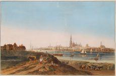 Gezicht op Antwerpen  by Unknown Artist
