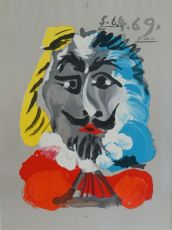 Portraits Imaginaires, 5.6.4.69 by Pablo Picasso