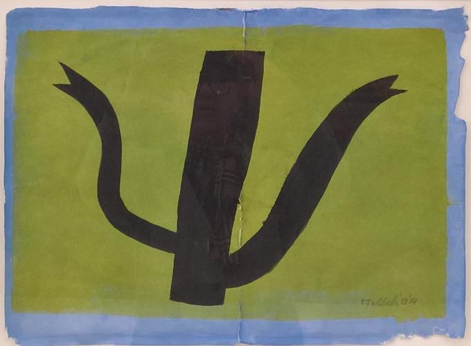'Zwarte kan met dubbele tuit' by Klaas Gubbels