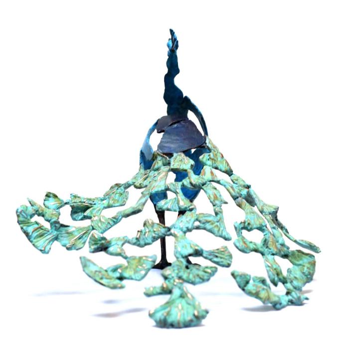 'Crowing' Peacock by Jozephine Wortelboer