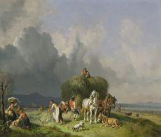 The Haywagon by Heinrich Bürkel