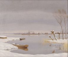 Winterlandscape near Loosdrechtse Plassen (Holland) by Dirk Smorenberg