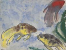 Veiltails (Aquarium) by Hans Emil Hansen Nolde
