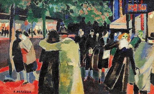 Les Amoureux de Montparnasse by André Brasilier