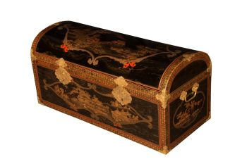 A large Japanese lacquer coffer by Unknown Artist