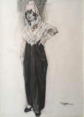Elegant Spanish Lady  by Piet van der Hem