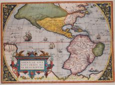 One of the most famous and esily recognised maps of America by Ortelius, Abraham