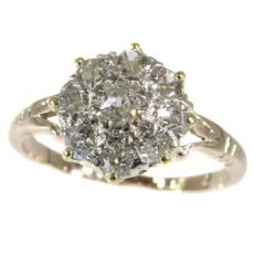 Antique diamond engagement ring early 19th Century early Victorian by Unknown Artist