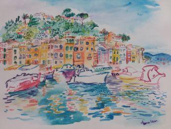 Portofino - Port City in Liguria  by Iam Anna