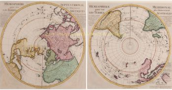 Northern and Southern Hemisphere  by  Guillaume De L'Isle + Reinier and Josua Ottens