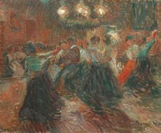 Dance floor by night by Georg Burmester