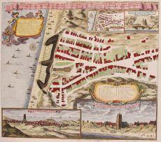 Egmond aan Zee  by  Johannes Rollerus/ Petrus Schenk II