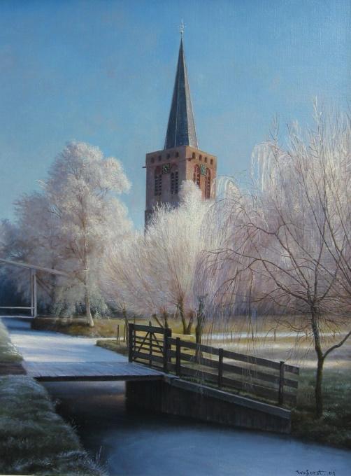Kortenhoef in Winter by Wouter van Soest