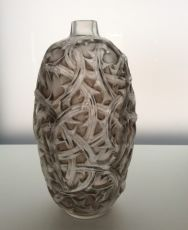 A great deep stained 'Ronces' vase by Lalique by René Lalique
