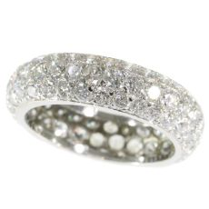 Vintage eternity band with over 5 crts of brilliant cut diamonds (90 stones!) by Unknown