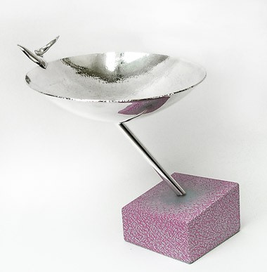 Bowl on Rose Stand by Jef Huibers