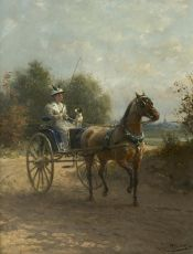 In a carriage on a sunny day by Otto Eerelman