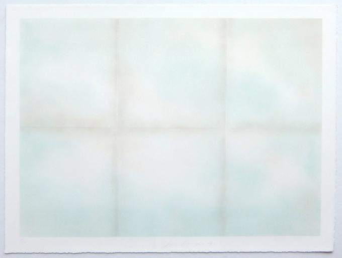 Blue folded clouds by Joe Goode