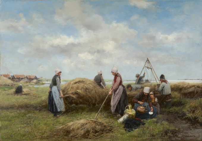 Harvest on Marken by Johannes Marius ten Kate