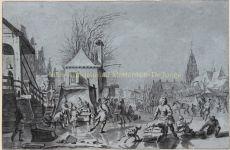 HOLLANDSE WINTER SCENE  by Meijer, Hendrik