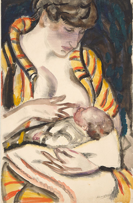 Greet met kind aan borst by Jan Sluijters