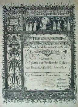 Certificate of the Association of Booksellers by Gerrit Willem Dijsselhof