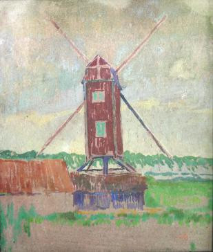 View on a Mill by Alfons Josephus van Dijck
