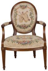 A beechwood armchair