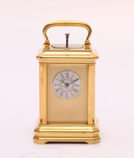 A miniature Swiss carriage timepiece with repetition, circa 1860 by Unknown Artist