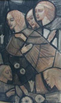 Design for Church window by Willem van Konijnenburg