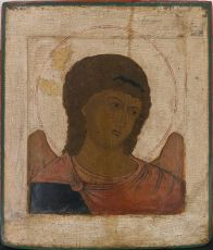No 9 Archangel Michael Portrait Icon by Unknown