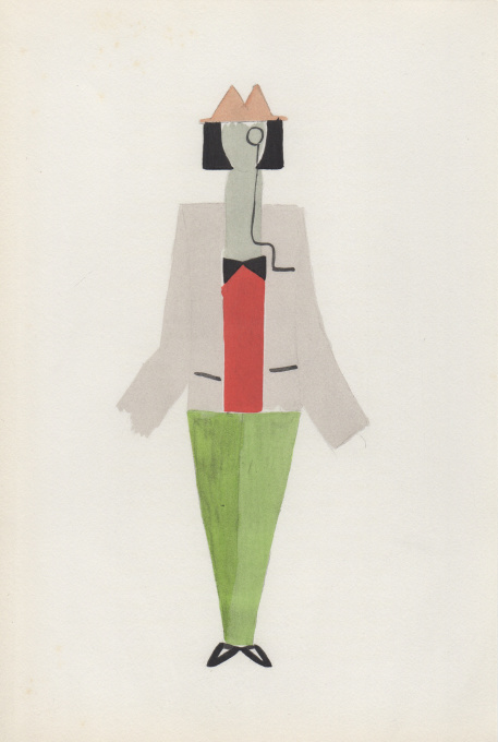 Costume pour Tristan Tzara by Sonia Delaunay