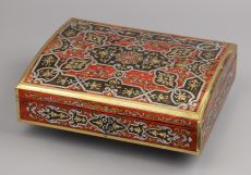 German Boulle-technique Marquetry Writing Box
