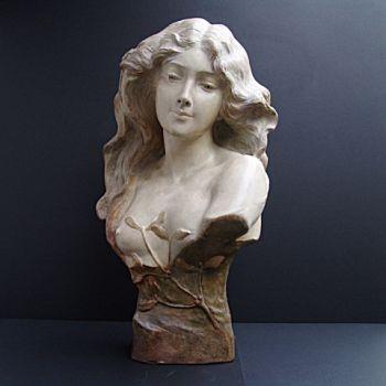 Bust of woman  by Lesca Goldscheider