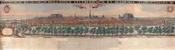 Panoramic view of Leiden, after Claude Rivet by  Jacob Salomonsz Savary