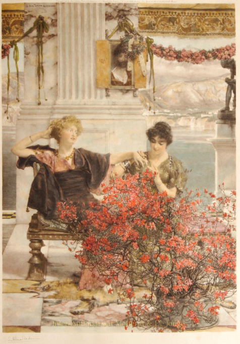 LOVE'S JEWELLED FETTER / THE BETROTHAL RING    by Lawrence Alma-Tadema