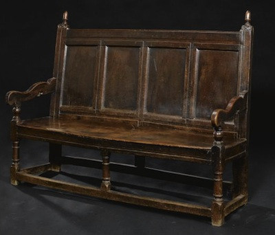 A good English oak settle by Unknown Artist